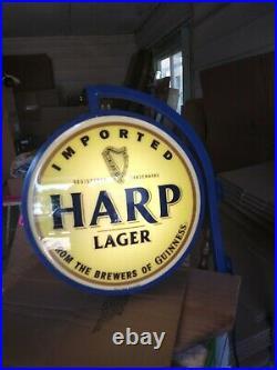 Harp Guinness Beer Sign Old Neo Neon Led Tavern Bubble Face Pub Light Bar L@@k