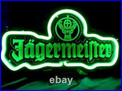 Jagermeister German 3D Carved Neon Sign 14x7 Lamp Light Beer Bar With Dimmer