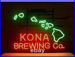 Kona Brewing Company Hawaii Neon Light Sign Lamp 17x14 Beer Bar Glass