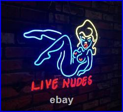 LIVE NUDES Sexy Girl Vintage Neon Sign Beer Custom Gift Pub Boutique