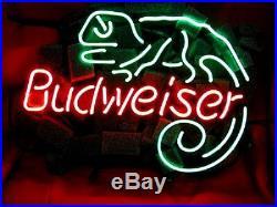 LIZARD Neon Sign Bud Beer Light Pub Bar Vintage Night Club Patio Man Cave
