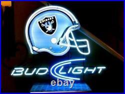 Las Vegas Raiders Light Helmet Neon Light Sign 17x14 Lamp Beer Bar Pub Glass