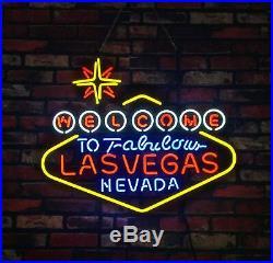 Lasvegas Handmad Vintage Artwork Gift Light Neon Sign Store Open Room Game Beer