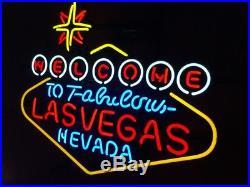 Lasvegas Vintage Handmad Store Open Artwork Neon Sign Room Game Gift Beer Light