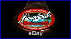 Leinenkugel's Canoe Brewing Wisconsin 3D LED Neon Light Sign 17 Beer Bar Gift
