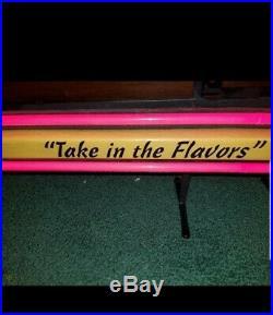 Leinenkugels beer canoe paddle Neon light up bar sign game room northwoods wi