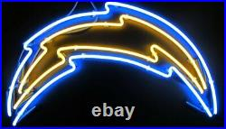Los Angeles Chargers Logo Neon Light Sign 17x14 Lamp Beer Bar Pub Glass Decor