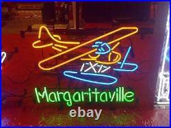 MARGARITAVILLE Seaplane Neon Sign 20x16 Light Lamp Beer Bar Pub Decor Glass