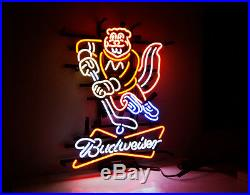 ME683 BUD-minnesota Bud weiser LED NEON Light Sign Golden Gophers Beer Bar Pub