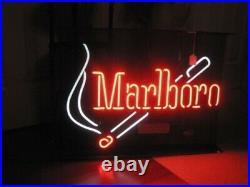 Marlboro Cigarettes And Match Smoke Neon Light Sign 17x14 Lamp Beer Bar Pub