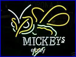 Mickeys Malt Liquor Hornet Neon Light Sign 17x14 Lamp Beer Bar Pub Glass