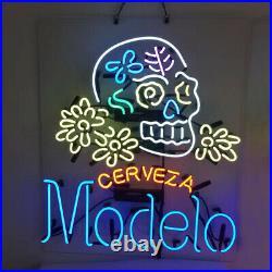 Modelo Cerveza Beer Neon Signs Home Bar Pub Store Room Wall Window Display 24x20