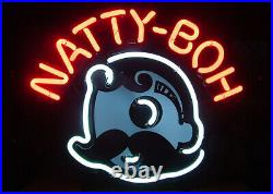 Natty Boh National Bohemian Neon Light Sign 17x14 Lamp Beer Bar Glass Decor