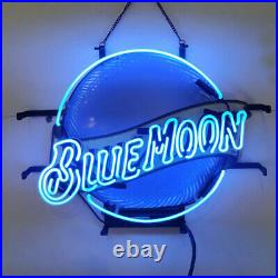 Neon Signs Gift Blue Moon Beer Bar Pub Store Party Homeroom Wall Decor 19x15