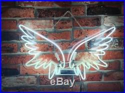New Angel Wings White Neon Light Sign Lamp Beer Pub Acrylic 17