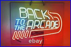 New Back To The Arcade Neon Light Sign Lamp Beer Pub Acrylic 20x16 Real Glass