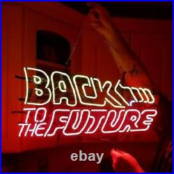 New Back To The Future Neon Light Sign 24x20 Lamp Poster Real Glass Beer Bar