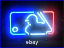 New Baseball Player Beer Neon Sign 17x10 Light Glass Home Wall Decor Lamp