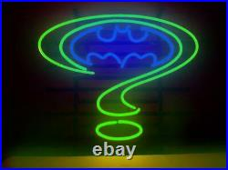 New Batman Forever Real Glass Neon Sign Beer Bar Pub Gift 17x14 Decor Lamp