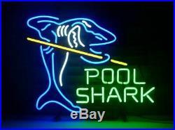 New Billiards Pool Shark Game Room Neon Sign Beer Bar Light