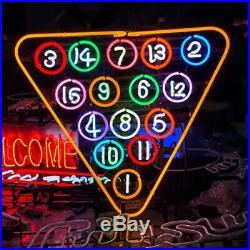 New Billiards Snooker Pool Game Room Neon Sign Beer Bar Pub Neon Light 20''x18'