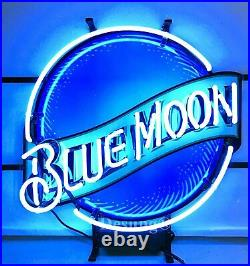 New Blue Moon Beer Neon Sign 20x16 With HD Vivid Printing Technology