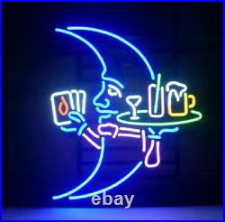 New Blue Moon Waitress Neon Light Sign Lamp 17x14 Beer Cave Gift Glass Decor