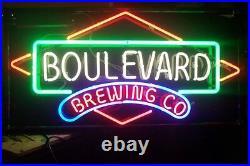 New Boulevard Brewing Co Beer Bar Decor Artwork Neon Sign 24x20