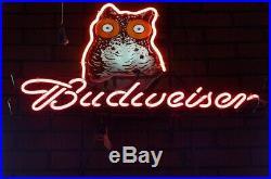 New Budweiser Hooters Owl Beer Bar Neon Light Sign 24x20