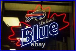 New Buffalo Bills Labatt Blue Bar Beer Neon Light Sign 24x20