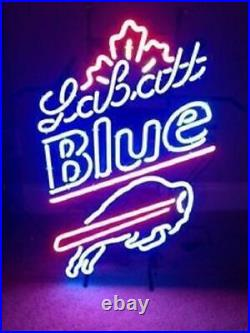 New Buffalo Bills Labatt Blue Beer Bar Beer Neon Light Sign 24x20