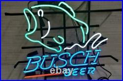 New Busch Beer Bass Fish Beer Pub Bar Neon Sign 17x14