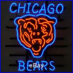New Chicago Bears Bear Neon Light Sign 20x16 Beer Cave Gift Lamp
