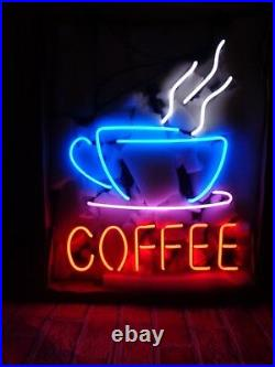 New Coffee Shop Bar Beer Man Cave Neon Light Sign 17x14