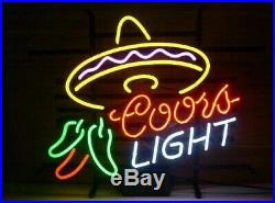 New Coors Cayenne Cushaw Neon Light Sign 17x14 Lamp Beer Pub Real Glass