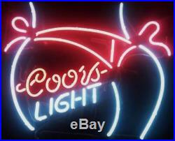 New Coors Light Bikini Girl Beer Bar Pub Man Cave Neon Light Sign 20x16