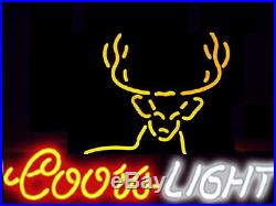 New Coors Light Deer Beer Neon Sign 17x14 Ship From USA