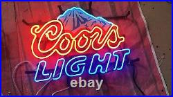 New Coors Light Mountain Neon Sign 17x14 Lamp Poster Beer Bar Real Glass