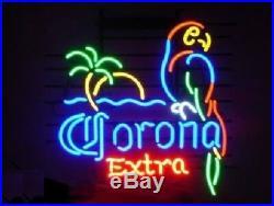 New Corona Extra Parrot Bird Left Red Neon Sign Beer Bar Pub Gift Light 17x14