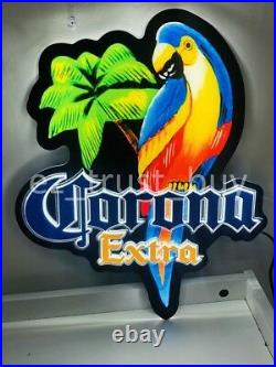 New Corona Extra Parrot Palm Tree Beer Bar 3D Led Light Lamp Neon Sign 17