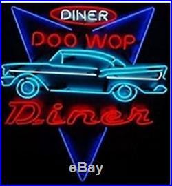 New DINER DOO WOP DINER Beer Bar Neon Sign 24x20