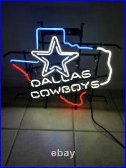 New Dallas Cowboy Texas Bar Beer Neon Light Sign 24x20