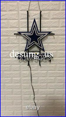 New Dallas Cowboys Beer Bar Lamp Decor Neon Light Sign 20x16 HD Vivid Printing