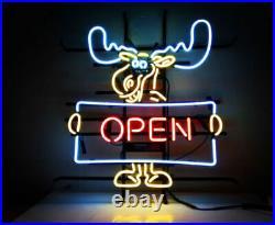 New Deer Open Welcome Hunters Beer Bar Man Cave Neon Light Sign 17x14