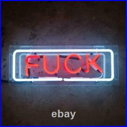 New Fvck Neon Sign Lamp Light 14 Acrylic Box Beer Bar Glass With Dimmer