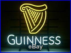 New Guinness Harp Neon Light Sign 20x16 Beer Cave Gift Lamp Artwork Glass