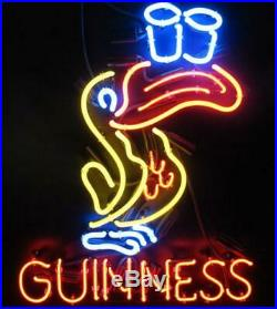 New Guinness Toucan Neon Light Sign Lamp 20x16 Beer Bar Man Cave Glass Decor
