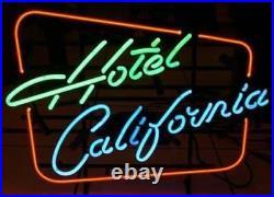 New Hotel California Man Cave Beer Bar Neon Light Sign 17x14