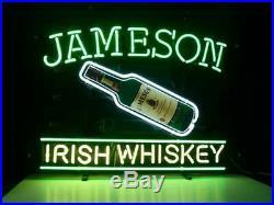 New Jameson Irish Whiskey Neon Light Sign 17x14 Beer Bar Gift Bottle