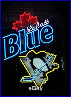 8e95d5b13d02af ... 2018 New Labatt Blue Light Pittsburgh Penguins NHL Beer Neon Sign 24x20